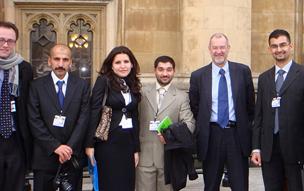 BAX 2010 visit - delgates outside Parliament