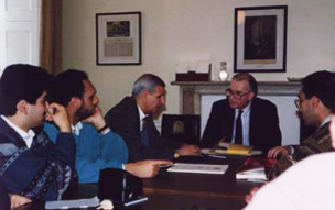 Sir Cyril Townsend receiving a Jordanian Delegation March 1993