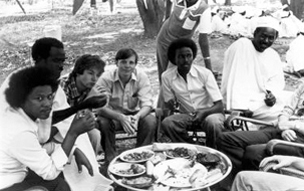 The British BAX group hosted at a picnic by the leaders of the Gezira University Students Union, New Year 1982